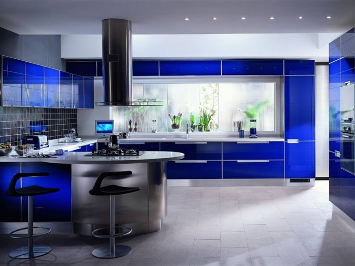 Elegant Blue Themed Kitchens