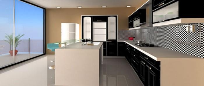 parallel kitchen design. 1004  Black Indian Parallel Kitchen