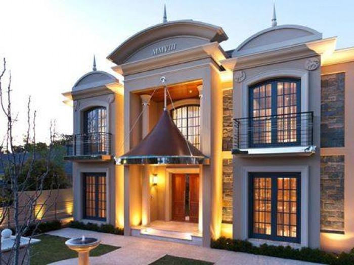 amazing luxury home front elevations.  New Impressive Luxury Front Elevation Idea