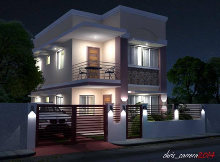 Amazing Beautiful Night View House Exterior