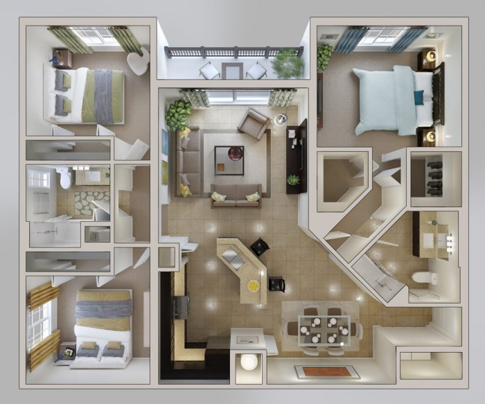 3 bhk house layout plan