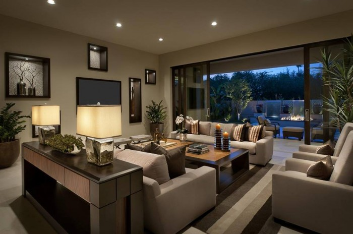 Elegant Modern Living Rooms With Awesome Lighting Design Idea