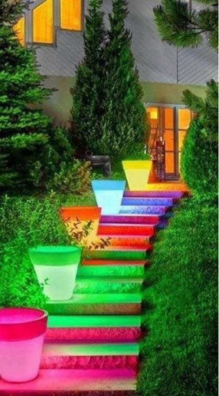 Creative Indoor U0026 Outdoor Stairs Lighting Ideas