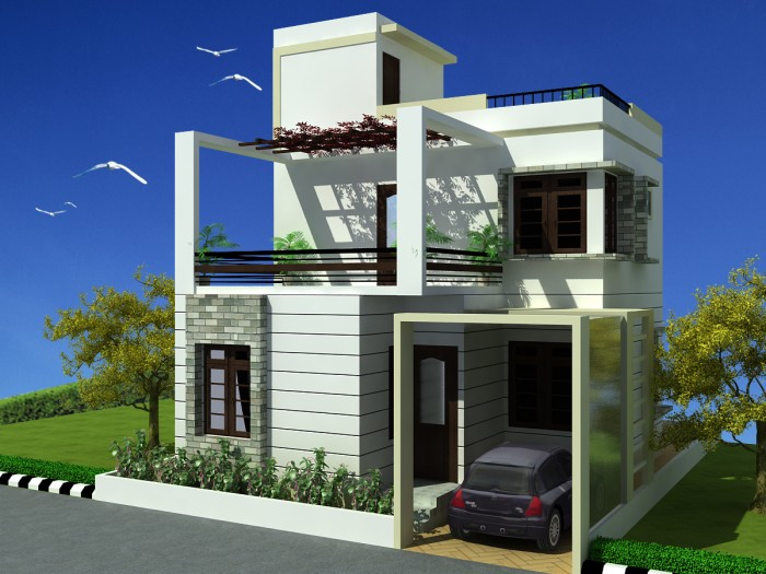 Modern Duplex House Design