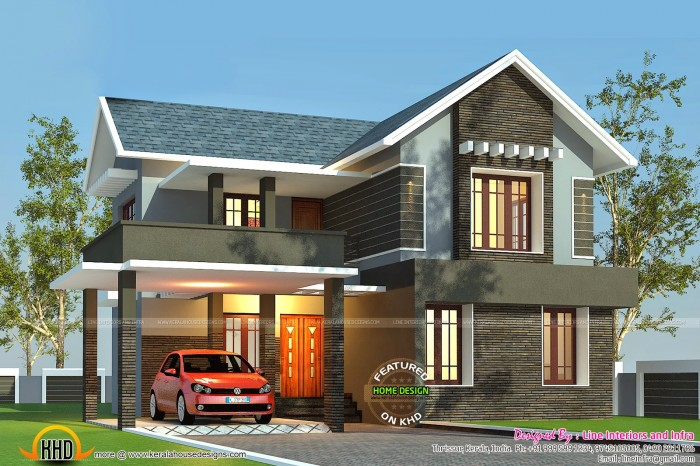 2412 square feet 224 square meter 268 square yards 3 bedroom house plan designed by line interiors thrissur kerala square feet details ground floor - First Floor Home Design Hd
