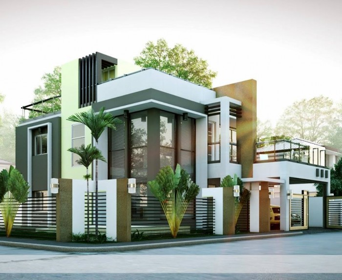 Mind Blowing Modern Residence Exterior Design Idea Adorable Exterior Design Ideas