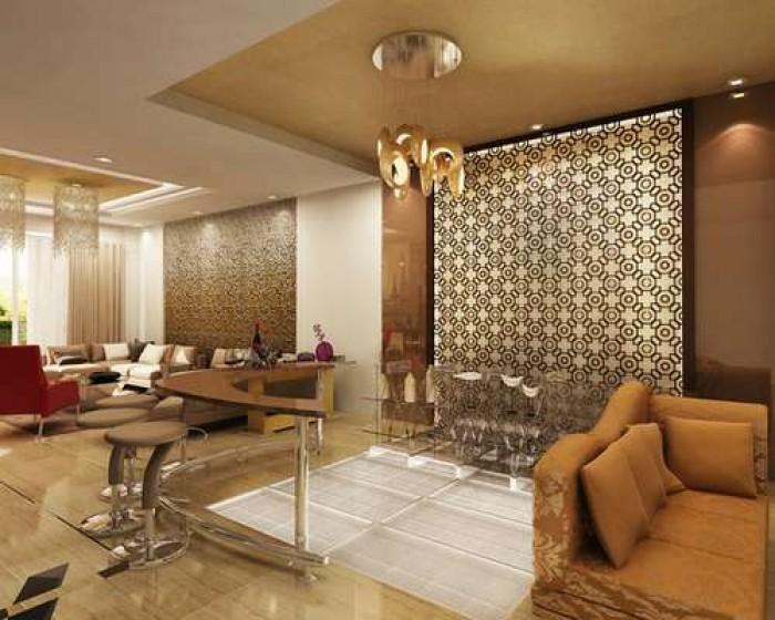 MDF Jali On Living Room Walls