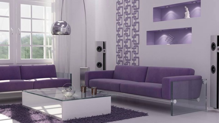 Modern Purple Furniture Living Room