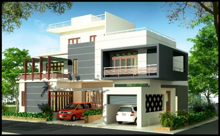 Front Elevation Of Triplex House : Triplex home elevation