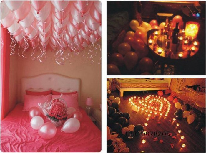 Bedroom Decoration With Balloons