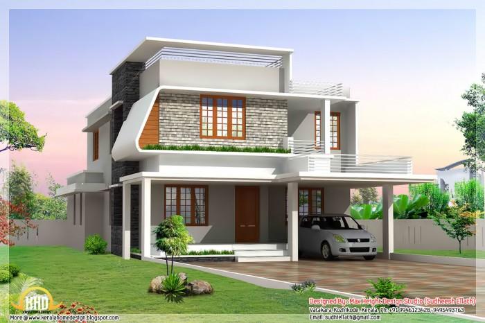 Single Floor Contemporary Elevation : Single floor residence elevation joy studio design