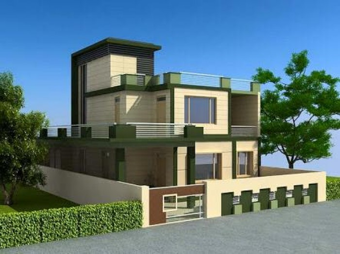 Home design exterior view for House 360 view