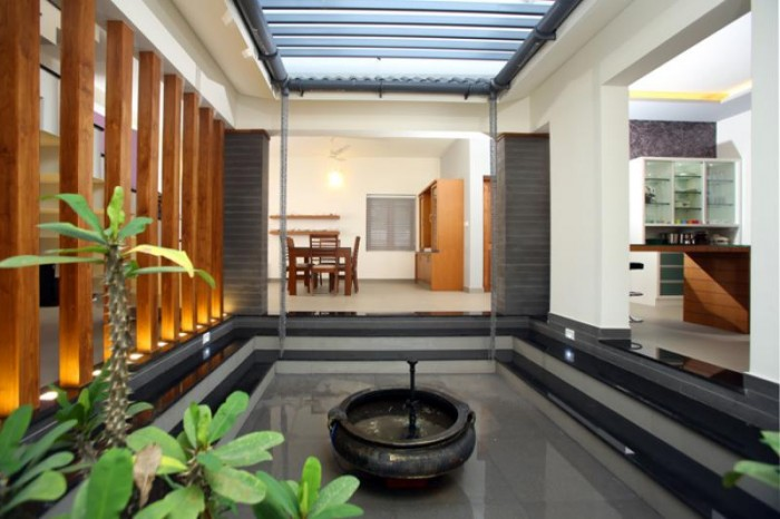 Open courtyard design inside your home for Interior courtyard designs ideas