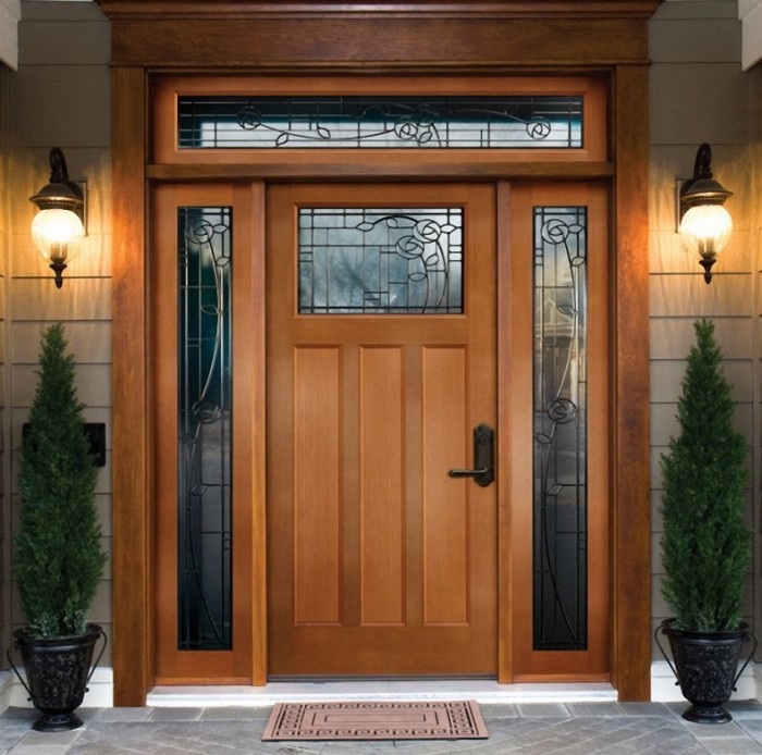 Modern front single door designs for Single front door designs