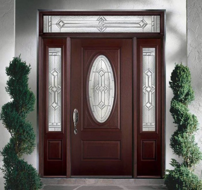 Modern main entrance door design for Glass door in front of front door