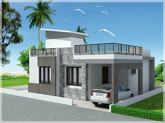 Single Floor Elevation Simple : Ghar home design ideas photos and floor plans