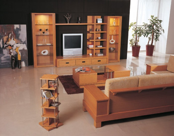 Wooden furniture design for living room in india for House furniture design