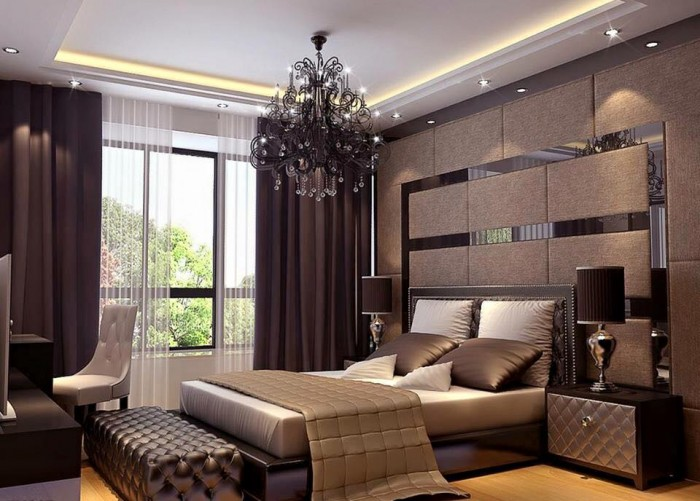 Elegant master bedroom interior design for Exquisite interior designs