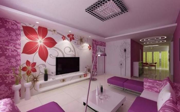 Stunning Purple Living Rooms Interior Design