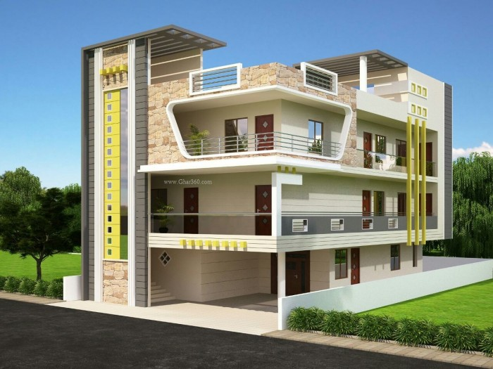 Modern Kothi Designs India New Home Designs Latest Modern