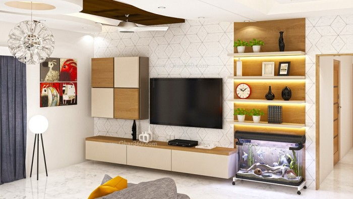 7 cool contemporary tv wall unit designs for your living room for Tv unit designs in the living room