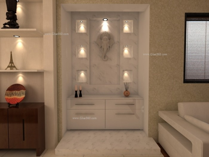 Designing the divine space prayer pooja room Home life furniture bangalore