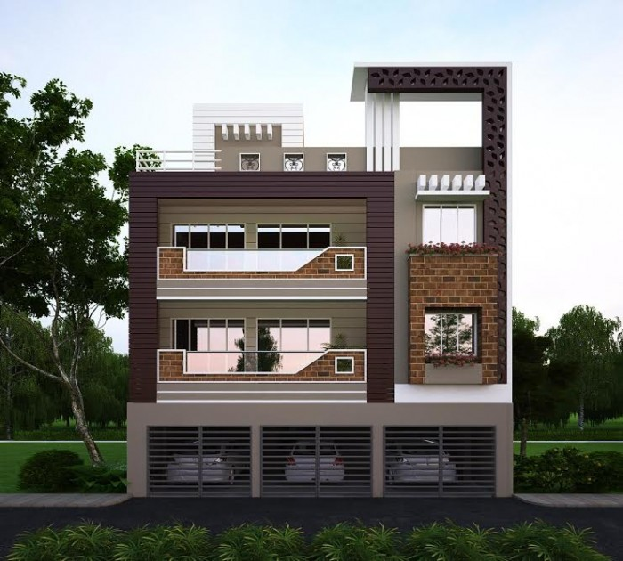 Home Front Elevation For 3 Floors : Latest house elevation designs
