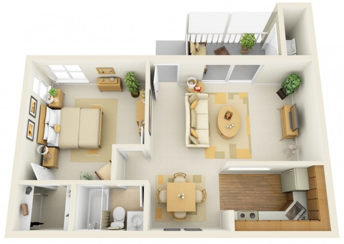 1 bhk house plan for 1 bhk home designs