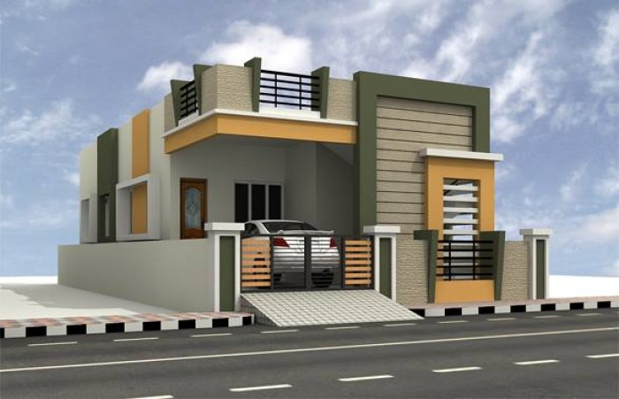 Front elevation for House front face design
