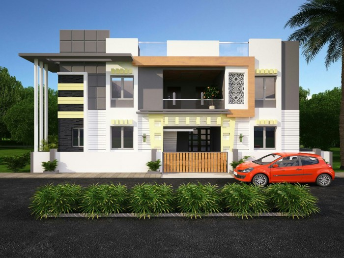 Latest Front Elevation Design : Ghar home design ideas photos and floor plans