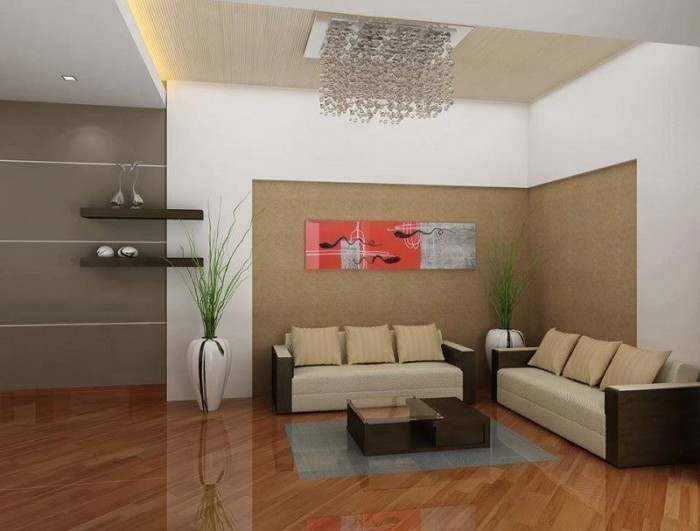 Simple kerala living room designs living room for Apartment design kerala
