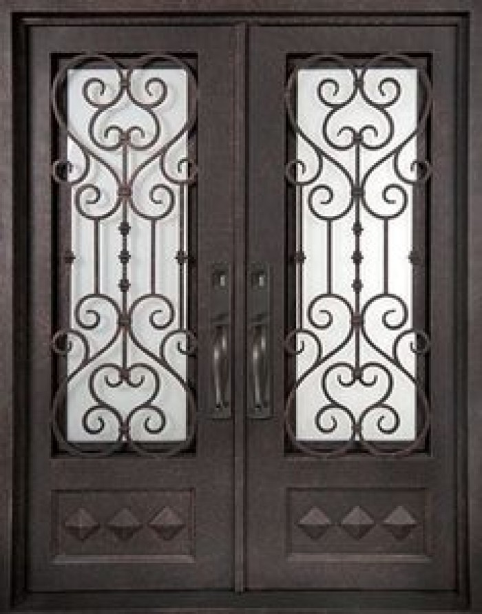 door grill lancaster mahogany lancaster half lite door with artistic iron grill and glue. Black Bedroom Furniture Sets. Home Design Ideas