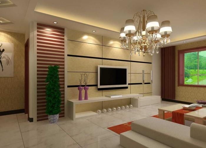 Lovely Family Living Room Lighting Design Idea