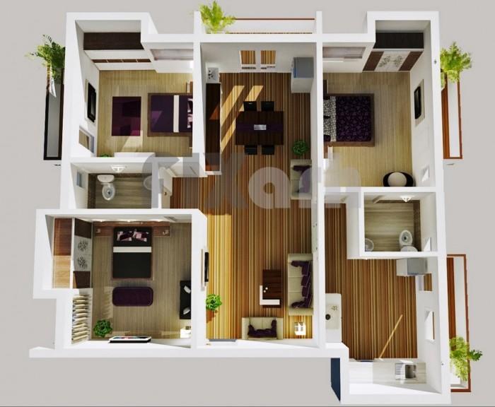 3 bhk home design for Home designs com