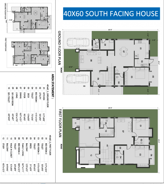 South facing house plans 30 x 60 for 30x50 duplex house plans