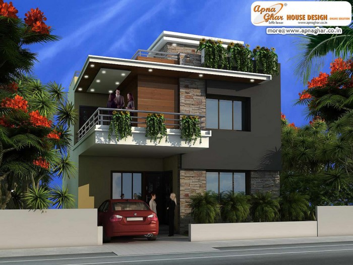 Ghar360 home design ideas photos and floor plans for Modern duplex house designs