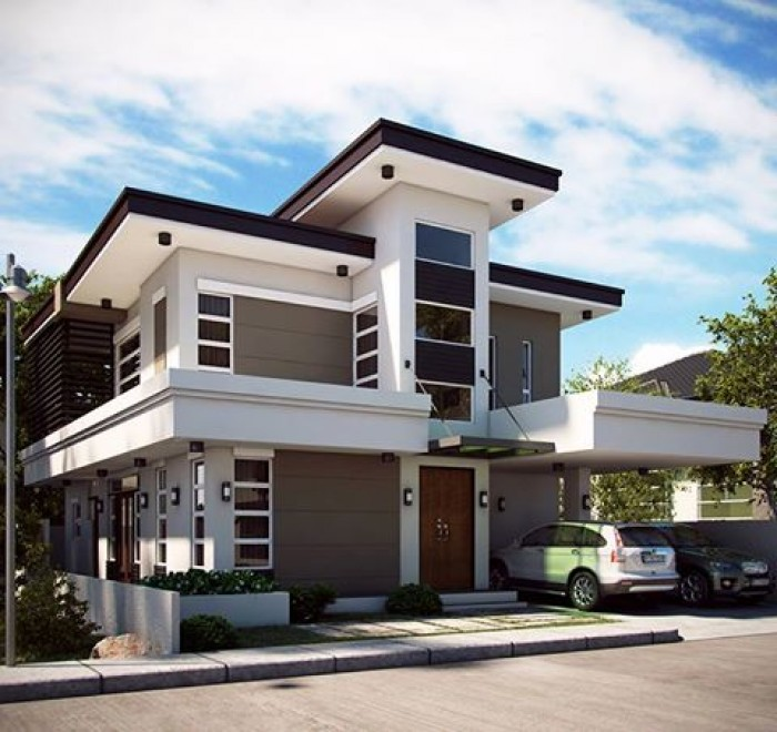 Two Storey House Front Elevation : Ghar home design ideas photos and floor plans