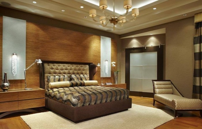 beautiful modern bedroom with awesome lighting design