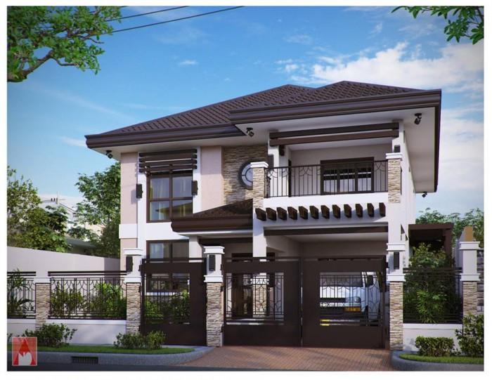 Modern residences exterior design idea for Simple elegant modern house