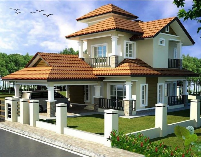 Front Elevation Designs For Two Floor Houses : Beautiful home front elevation designs and ideas