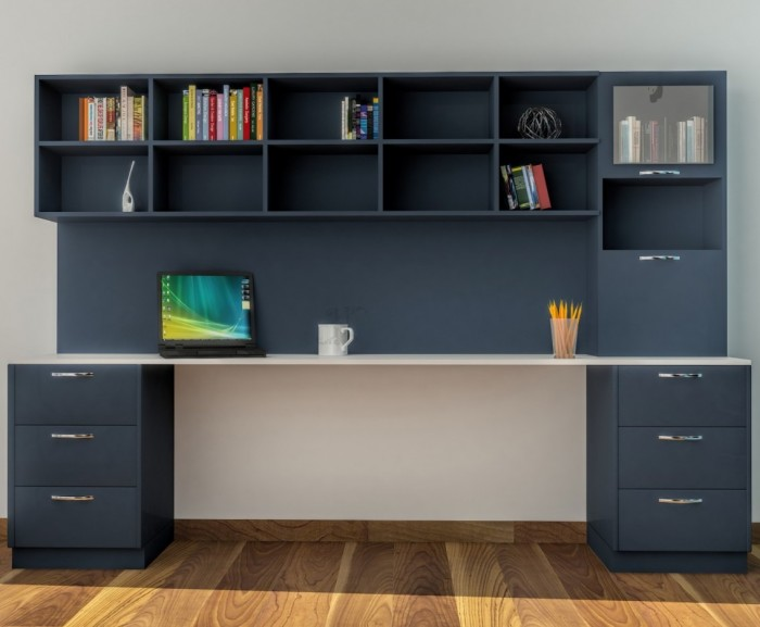 Contemporary and colorful study table design ideas for Best study desk design