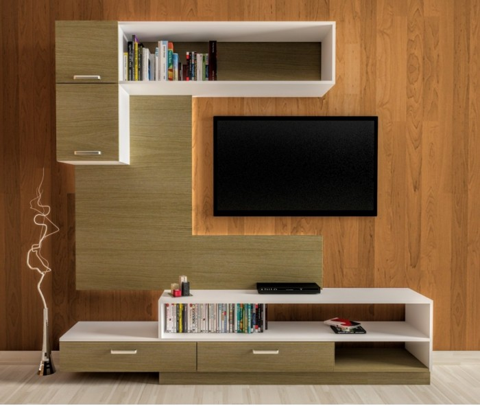 7 cool contemporary tv wall unit designs for your living room - Tv wall unit designs for living room ...