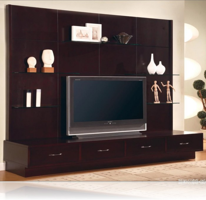 7 cool contemporary tv wall unit designs for your living room Wooden entertainment center furniture
