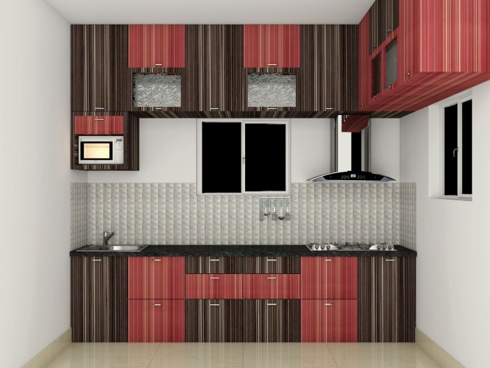 Straight Kitchen Design With Loft