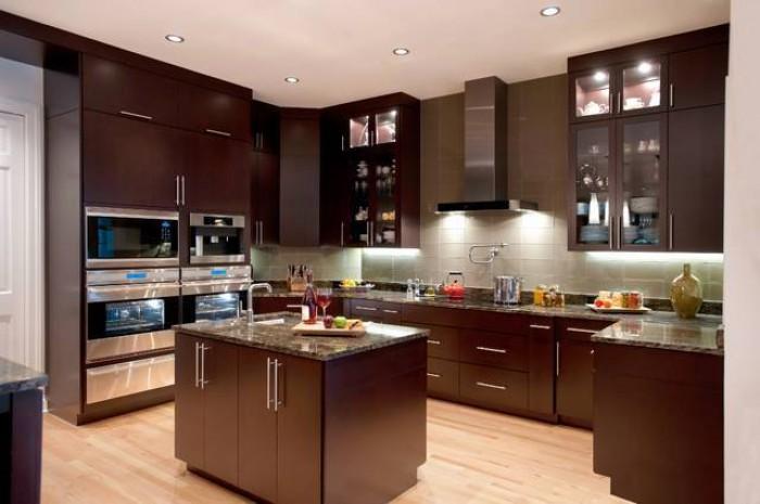 Dark Brown Kitchen Design